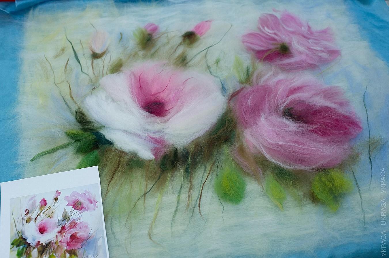 Мастер классы по шерстяной акварели цветы