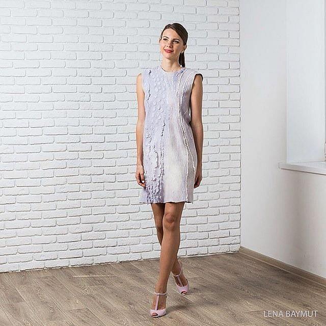 Мастер-класс Лены Баймут по валянию платья в мастерской Украса