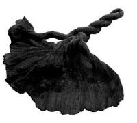 Шелковый палантин (52) - черный!
