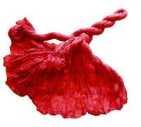 Шелковый палантин (53) красный!